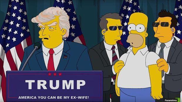 Trump président... chez les Simpson.