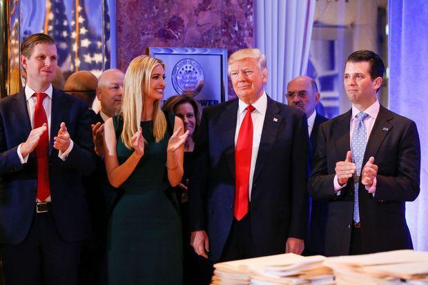 Eric , Ivanka et Donald Jr.