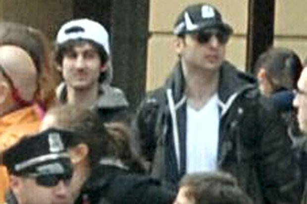 Dzhokhar et Tamerlan Tsarnaev le 15 avril 2013, jour des attentats de Boston.