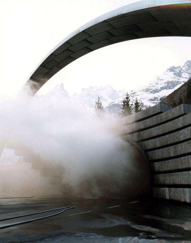 L'incendie du Tunnel du Mont-Blanc, le 24 mars 1999.
