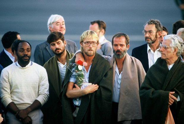 La libération des derniers otages du vol TWA 847, en juillet 1985.