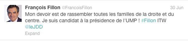 Tweet Fillon-