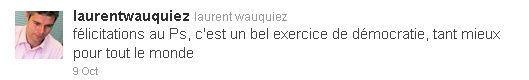 Tweet Laurent Wauquiez-