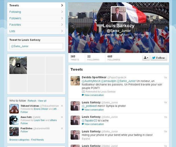 Twitter Louis Sarkozy-