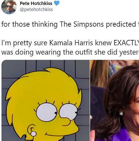 """""""Je suis presque sûr que Kamala Harris savait parfaitement ce qu'elle faisait"""" annonce cet internaute sur Twitter."""