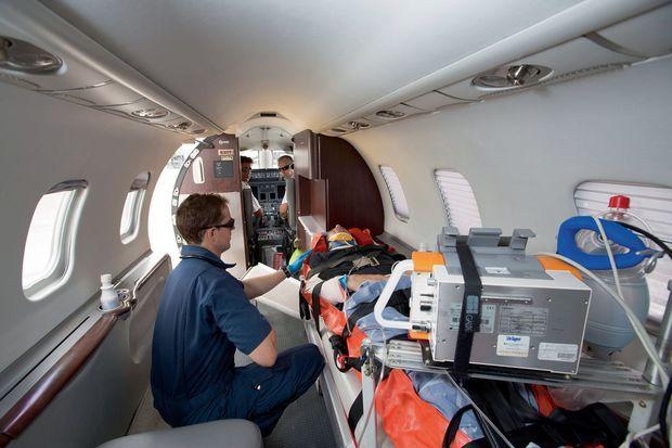 Un avion médicalisé de