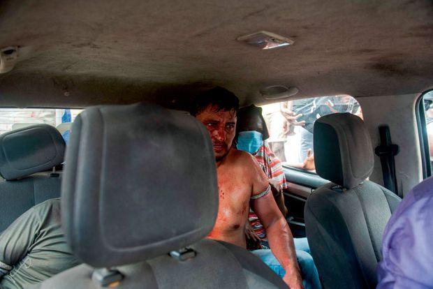 Un des 17 hommes arrêtés le 8 juillet, au lendemain de l'assassinat. Quinze sont colombiens.