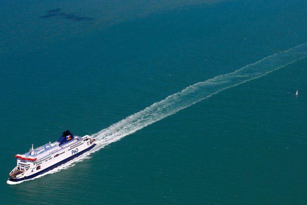 Un ferry P&O, qui ralie Calais à l'Angleterre.