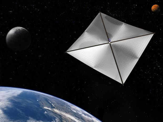 Un prototype de voile solaire imaginé par la Nasa.