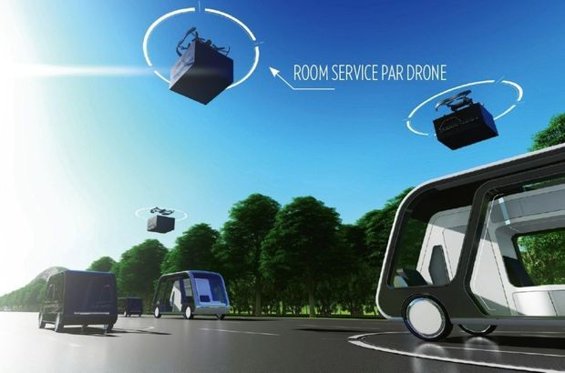 Un room service par drones.