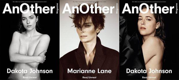 """Dakota Johnson s'affiche nue pour le magazine """"AnOther"""" automne/hiver 2015."""