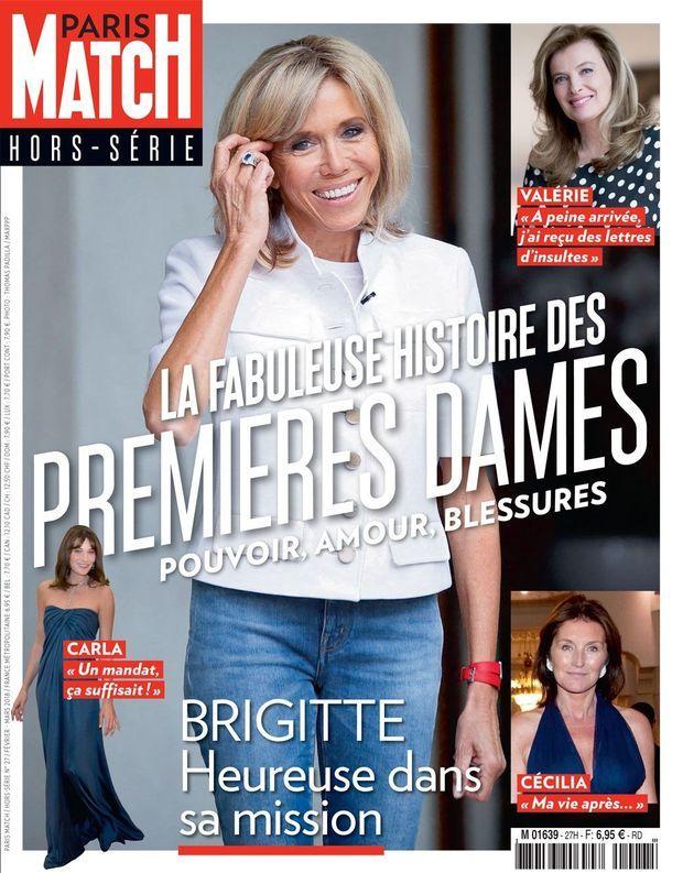 La Une du hors série de Paris Match sur la fabuleuse histoire des premières dames.