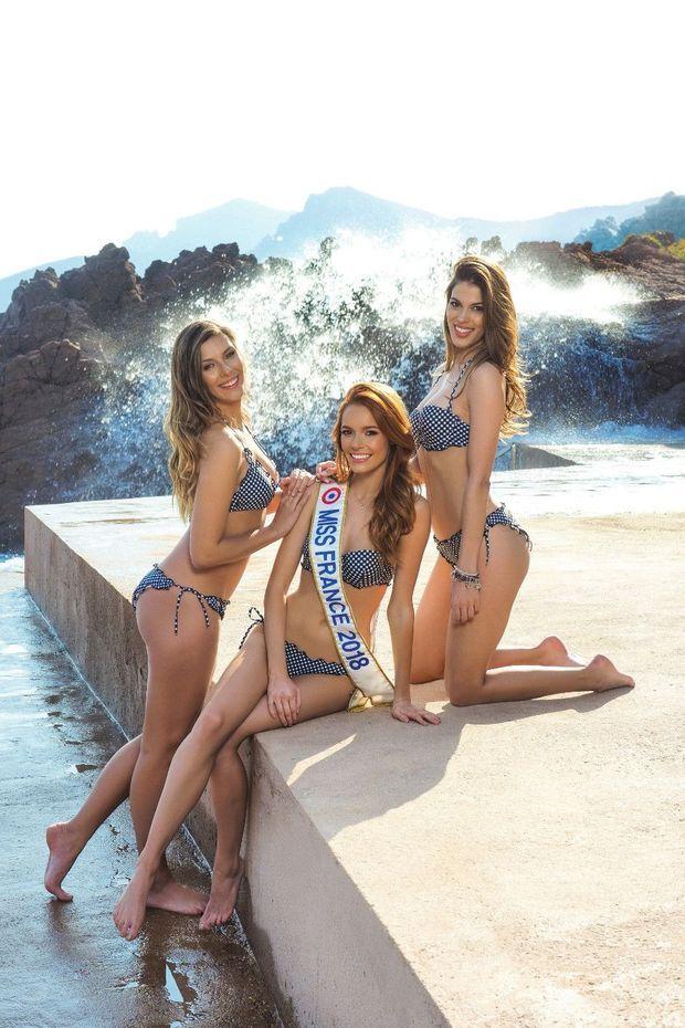 Une Miss bien épaulée qui, comme Iris (à dr.), se présentera à l'élection de Miss Univers (ou peut-être à celle de Miss Monde) en fin d'année.