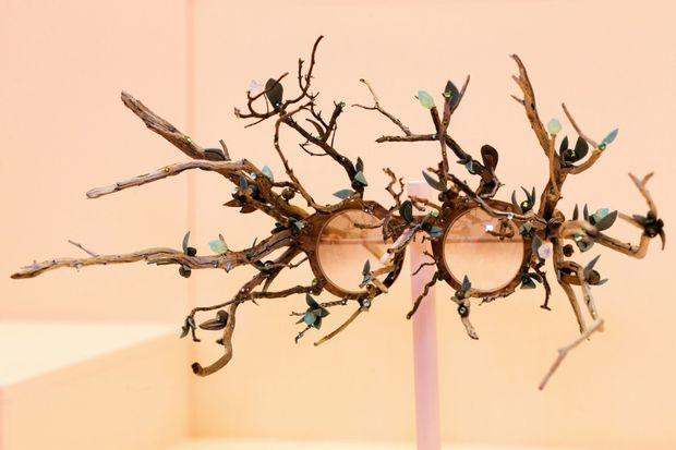 Une monture de lunettes créée par Thibaut Rodde et Sandrine Paskusz-Koffi.