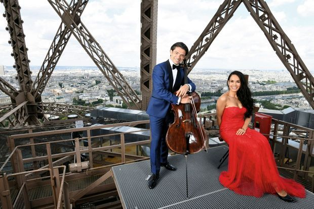Une scène avec vue sur Seine… Le cadet des Capuçon rencontre la mezzo-soprano Gaëlle Arquez.