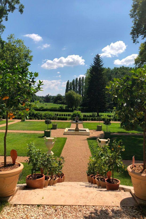 Le jardin du château.