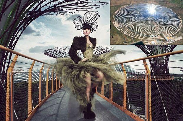 En médaillon, l'usine solaire de Gaermasolar.