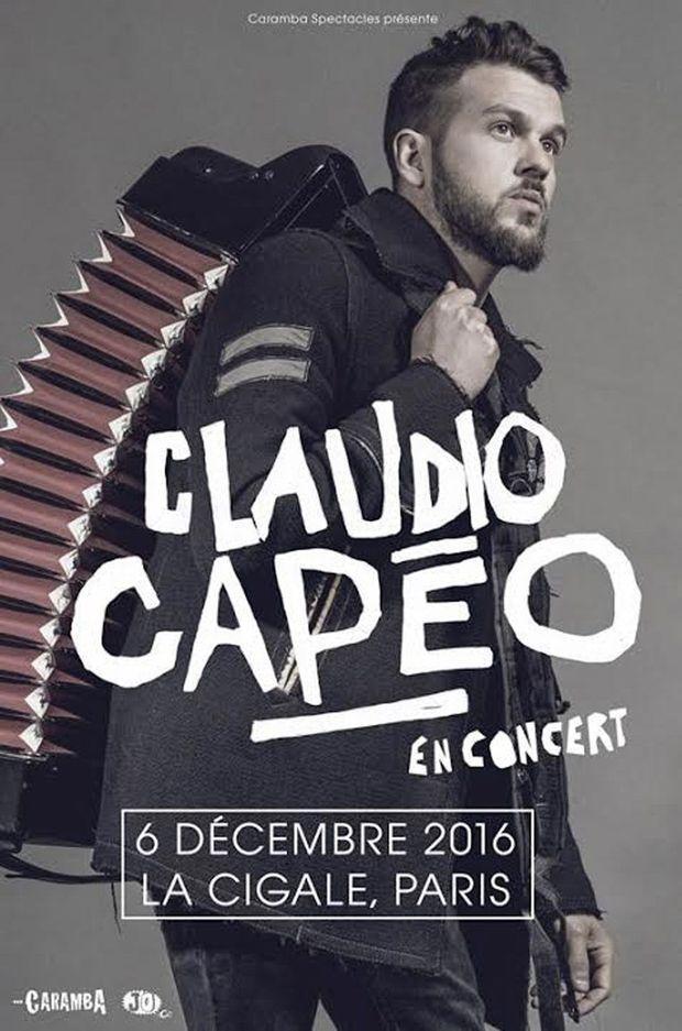 Claudio Capéo, en concert à la Cigale à Paris mardi 6 décembre 2016