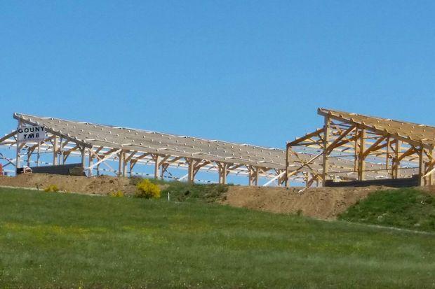 Le chantier de la ferme des 1000 veaux photographié il y a trois semaines.