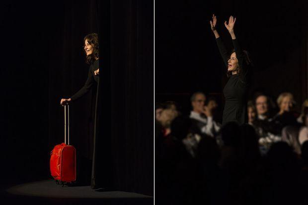 Valérie Lemercier sur scène.