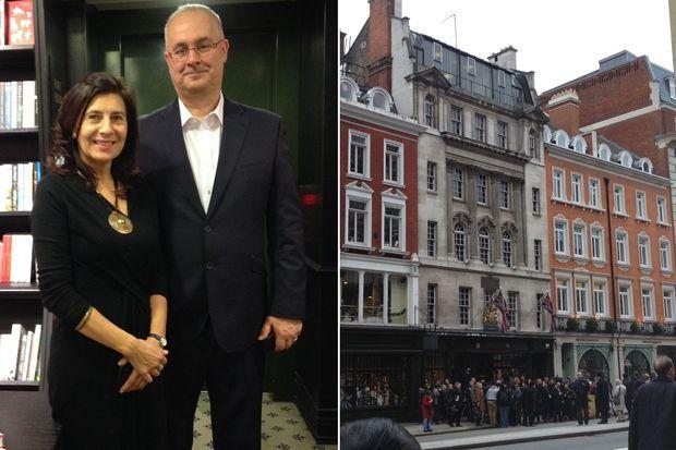Anna Jarota et Iain Dale, l'agent et l'éditeur de Valérie Trierweiler.