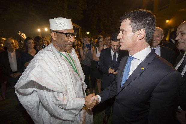 Manuel Valls et Abdoullah Coulibaly.