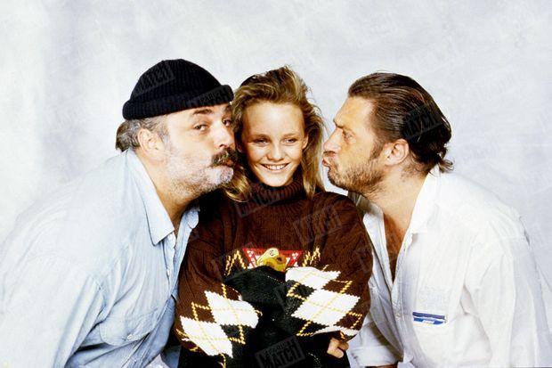 """""""Vanessa et ses deux mentors : son oncle, Didier Pin, et le compositeur de 'Joe le Taxi', Franck Langolff."""" - Paris Match n°2004, 23 octobre 1987"""