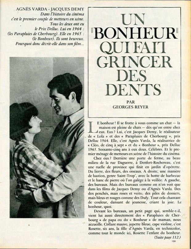 Agnès Varda et Jacques Demy dans Paris Match, n°831, daté du 13 mars 1965