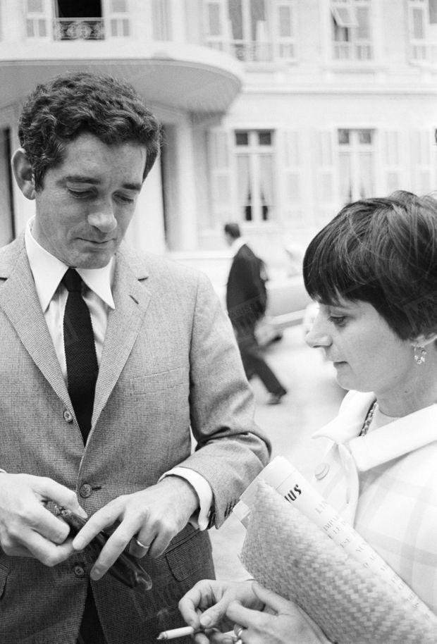 Agnès Varda et Jacques Demy au Festival de Cannes 1966.