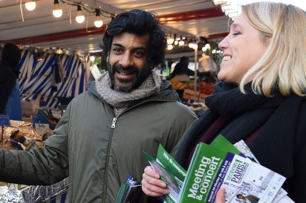 Vikash Dhorasoo et Danielle Simonnet, fin février à Paris.