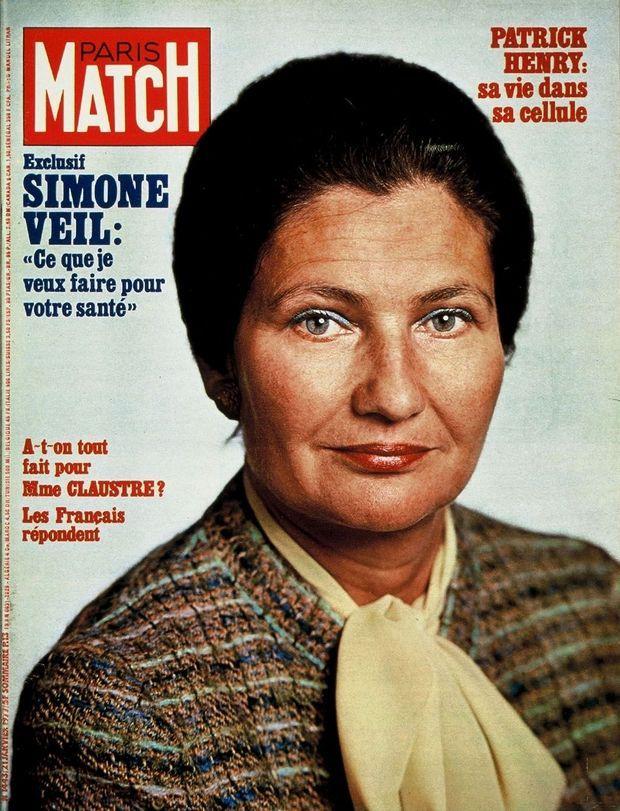 Simone Veil en couverture du Paris Match n°1443, daté du 21 janvier 1977.