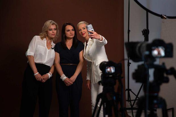 Veronika Tsepkala, Svetlana Tikhanovskaïa et Maria Kolesnikova, en août 2020.