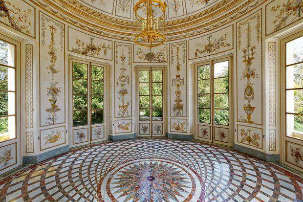 L'intérieur du Belvédère du Petit Trianon à Versailles