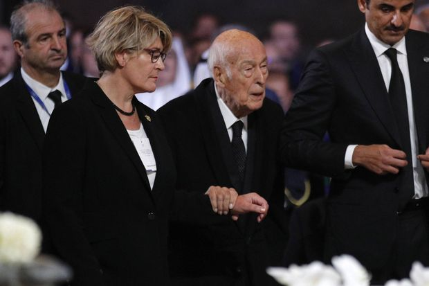 VGE lors des obsèques de Jacques Chirac.