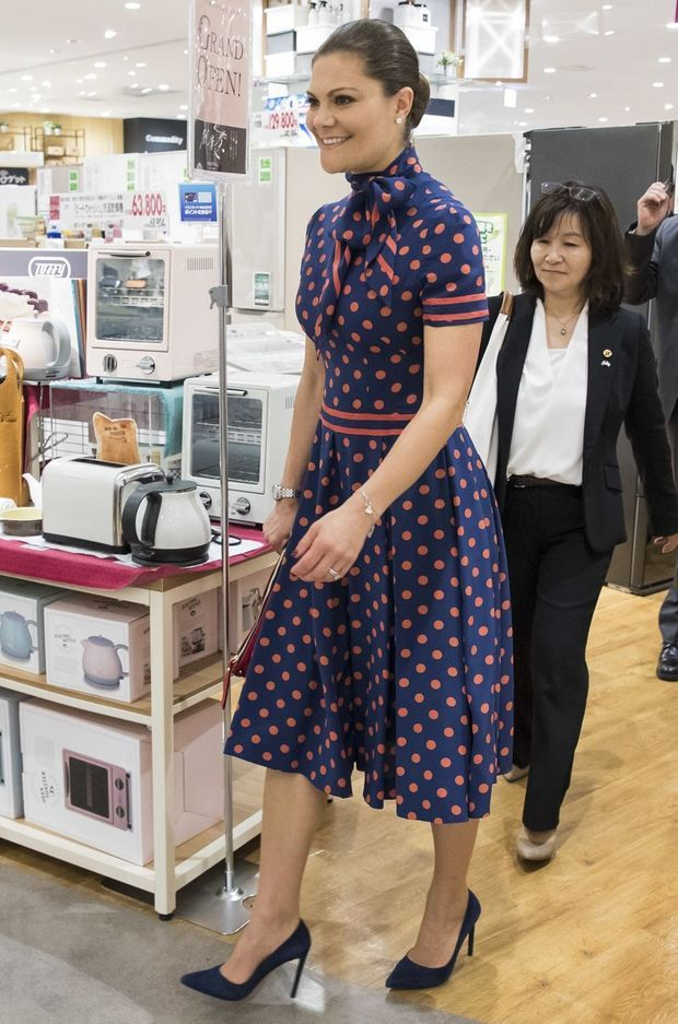 La princesse Victoria de Suède à Tokyo, le 18 avril 2017