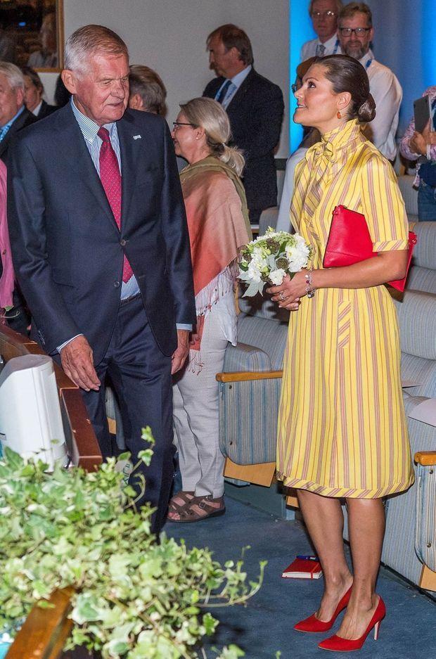La princesse Victoria de Suède à Stockholm, le 28 août 2017