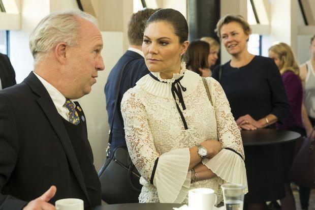 La princesse Victoria de Suède à Solna, le 20 octobre 2017