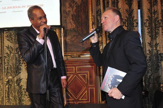 Erick Bamy avec Philippe Legrand au Grand Prix Paris Match du Photoreportage en 2013