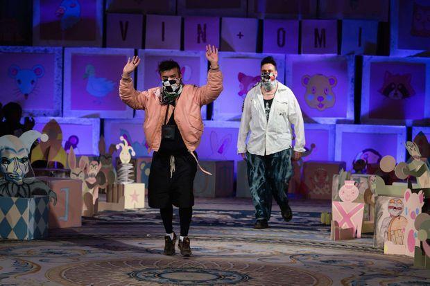 Vin et Omi à la Fashion Week de Londres le 14 février dernier.