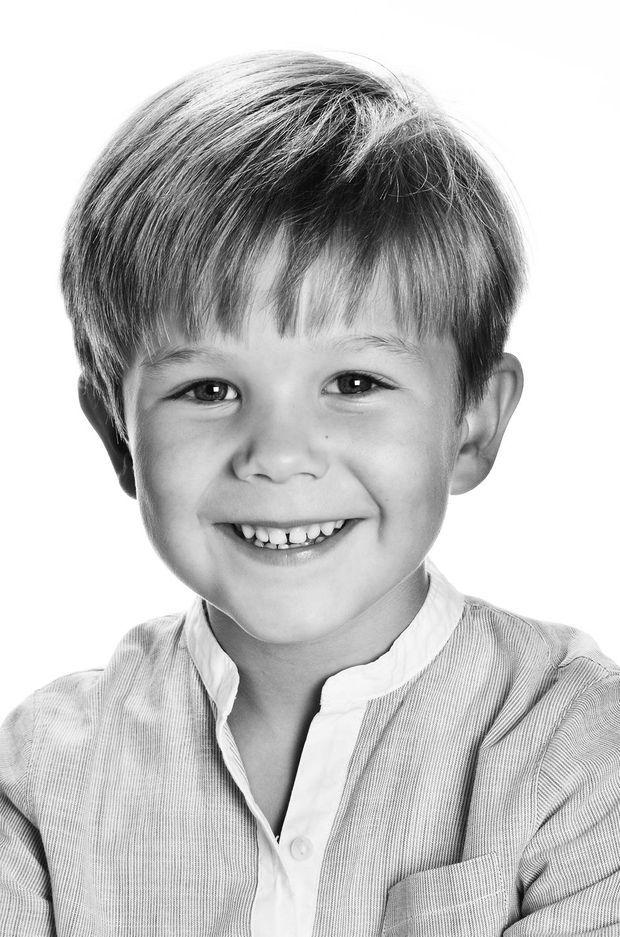 Portrait officiel du prince Vincent de Danemark pour ses 6 ans