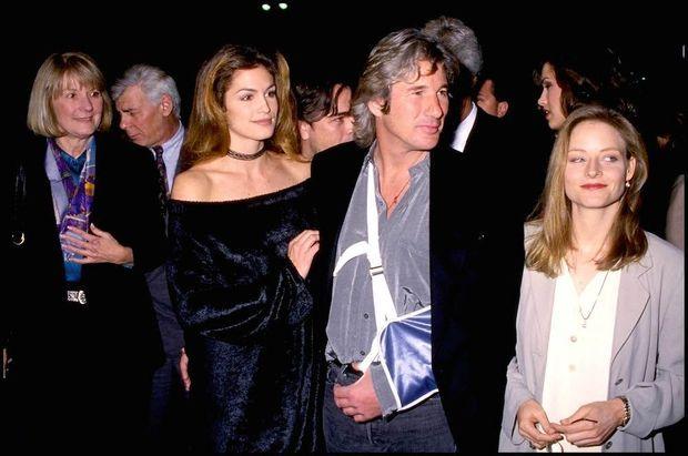 Cindy Crawford et Richard Gere en 1993 à Hollywood.