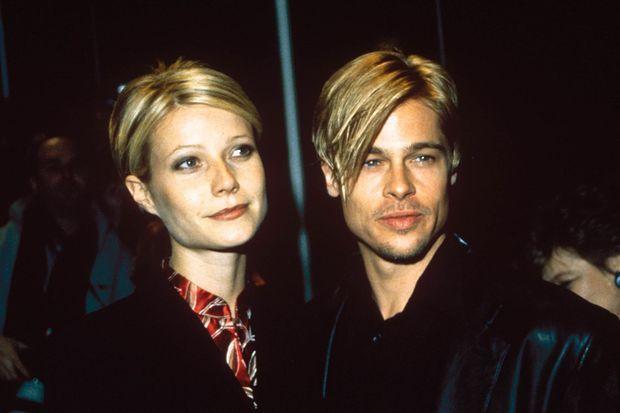 Gwyneth Paltrow et Brad Pitt en mars 1997