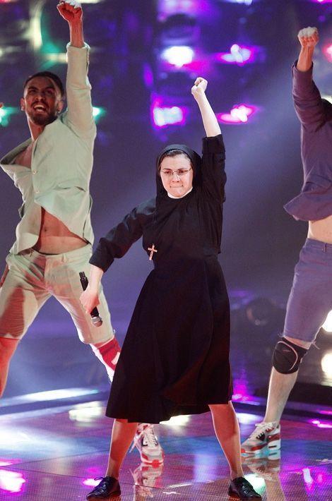 Cristina lors de la finale de «The Voice»