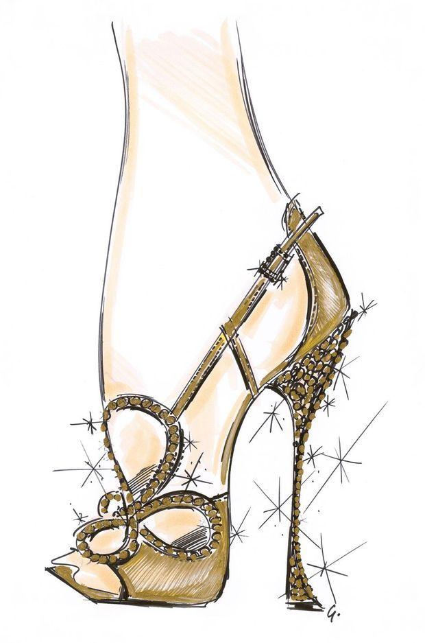 """Esquisse de la """"Vivier Queen Sandal"""" par Gherardo Felloni"""