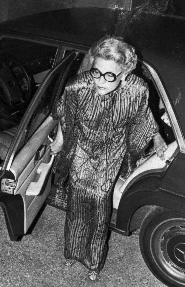 Sunny von Bulow, sur l'une de ses dernières photos en public, à Newport en 1979.