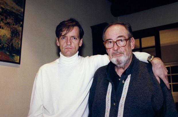Premier noël après le drame. Jean Vuarnet et son fils Alain, le 25 décembre 1995.
