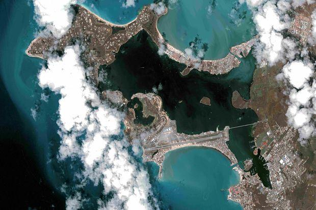La partie est de l'île de Saint-Martin le 10 septembre dernier, après le passage de l'ouragan Irma.