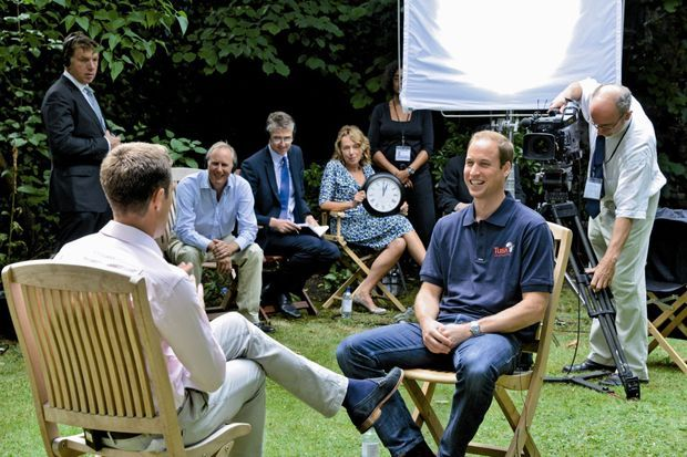 Début août, face au journaliste Max Foster de CNN dans les jardins de Kensington Palace.