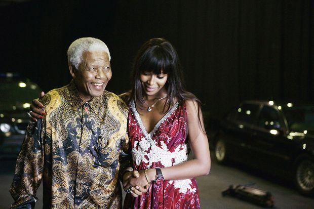 En 2007, à la conférence de presse du concert World Aids Day, à Gauteng, en Afrique du Sud. « Mandela m'a ouvert les yeux et le cœur », dit Naomi.
