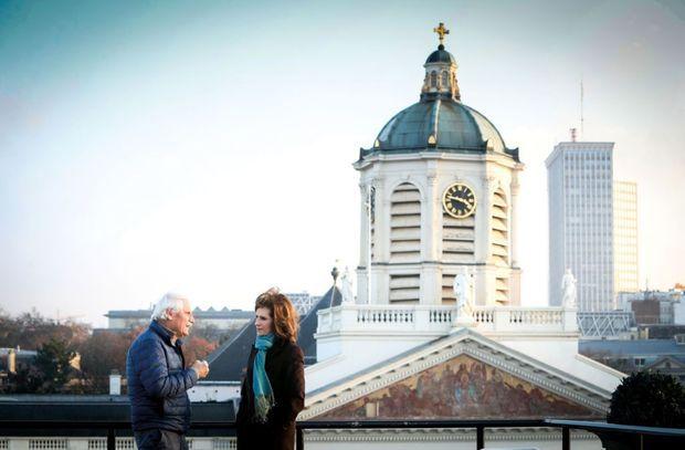 Yann Arthus-Bertrand et la princesse Esmeralda.